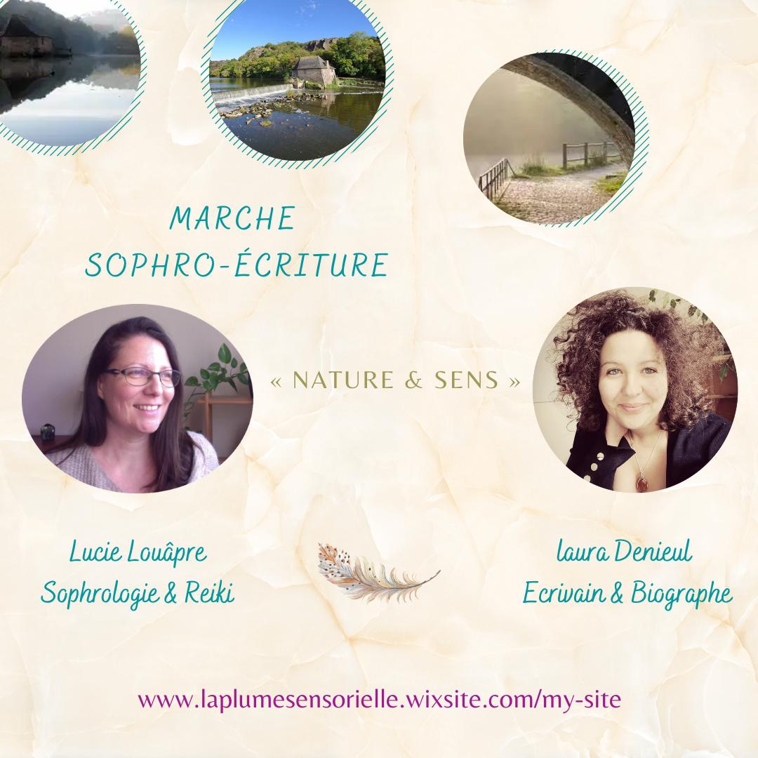 sophrologie et écriture la plume sensorielle, ballade en nature et en conscience